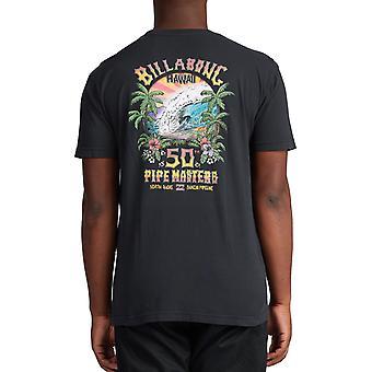 Billabong Pipe Tube Art Short Sleeve T-Shirt in Black