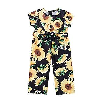 Girl's Sunflower Romper