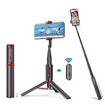 3 In 1 langaton Bluetooth laajennettavissa selfie tikku taitettava jalusta ja
