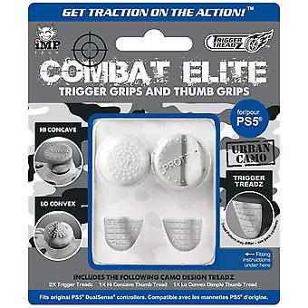 iMP Tech Combat Elite Thumb & Trigger Treadz Dual Sense Controller Grips Urban Camo for PS5