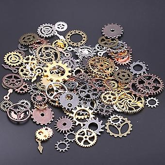 Mix Styles Vintage Mechanical Cogs Gears Metal Steam Punk Diy Pendant Jewelry
