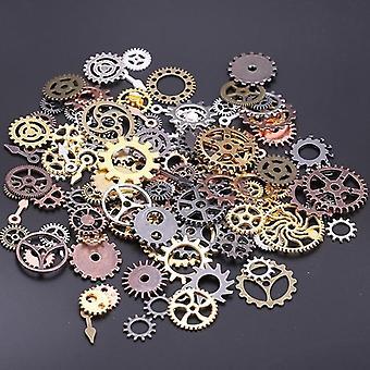 Mix Styles Vintage Mechanical Cogs Gears Metal Steam Punk Diy Pendant Jewelry