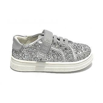 Liu-jo Shoes Sneaker Mini Alicia 301 Glitter Silver Zs21lj13 4a1301