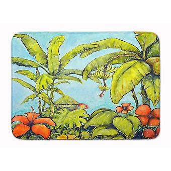 Caroline's Treasures Banana Cabana Macchina Lavabile Memoria Schiuma Mat zerbini, Multicolor