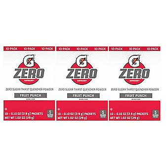 Gatorade Zero Fruit Punch Singles Drink Mix 3 Pack