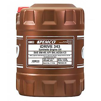 Pemco iDrive 20L 5W-40 API SN Engine Oil Acea C3 Acea A3/B4