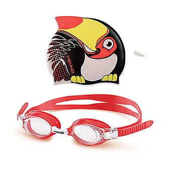 Head Meteor Junior Character Goggle & Swim Cap Set- black toucan
