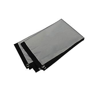 Pantalla de cortina antiligante 100 120 133 pulgadas pantalla de proyección exterior de inicio