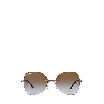 Ray-Ban RB8066 marrom em óculos escuros marrons claros