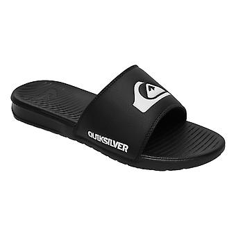 Quiksilver Bright Coast Slide Flip Flops - Black / White / Black
