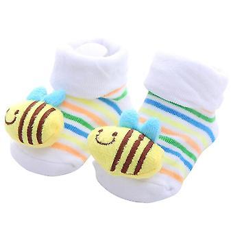 Newborn Baby Anti-slip Cotton Leg Warmers Striped Socks