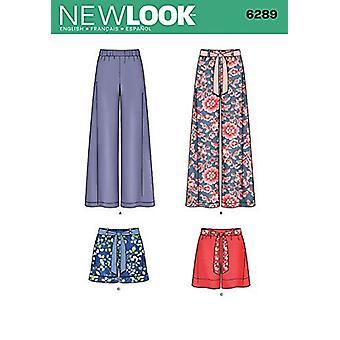 Yksinkertaisuus Luovat kuviot Uusi ilme 6289 Misses' Pull On Pants or Shorts and Tie Belt, A (8-10-12-14-16-18)