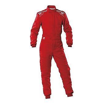 سباق jumpsuit OMP الرياضة الأحمر (الحجم L)