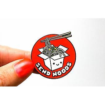 Funny Ramen Send Noods Hard Enamel Pin
