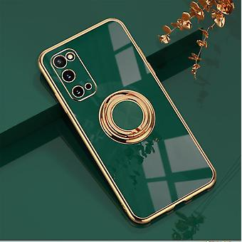 Samsung Galaxy S20 Plus luksuriøs stilfuld shell med Ring Stand Feature Gold