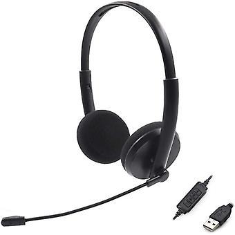 USB-Computer-Headsets mit Mikrofon und Inline-Audio-Steuerung, Geruschunterdrckung, kabelgebunden,