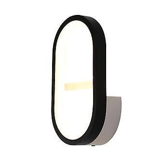 Dormitorio LED lámpara de pared 12W cálido Lighing 12W (negro)