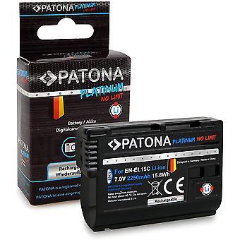 FengChun Platinum Akku EN-EL15C, 2250mAh kompatibel mit Nikon Z5, Z6, Z6II, Z7, Z7II, D7500 D7000,