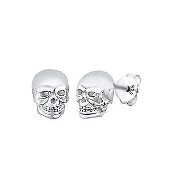 Boucles d'oreilles Elli à broches pour femmes en argent 925, forme de crâne, argent blanc