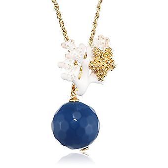 MISIS Women-Necklace Angel Silver 925 Blue Agate 48.3 cm - CA07846