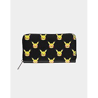 Difuzed GW234042POK - Wallet with Zipper on The Surface, Reason: Pokemon-Pikachu, Black