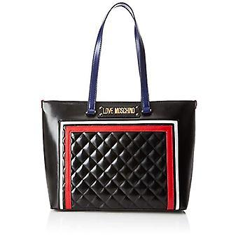 الحب موسكينو مبطن بو ميكس متعددة، حقيبة حمل المرأة، أسود (أسود)، 15x10x15 سم (W × H x L)