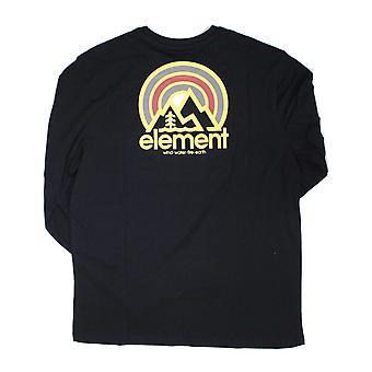 عنصر سوناتا طويل الأكمام تي شيرت في فلينت الأسود