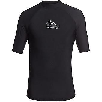 Quiksilver Heater Short Sleeve Rash Vest in Black