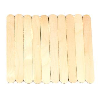 Vokspinde, store brede voksapplikatorpinde, hårfjerningsspateltræ