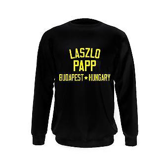 Laszlo papp boxing legend sweatshirt