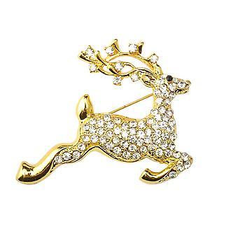 Glanzende strass kristal broche kraag clip pin kleding accessoire sieraden sjaal gesp