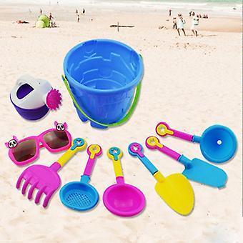 Children Beach Sand Toy Set , Bucket Watering Can, Shovel, Rake, Mold