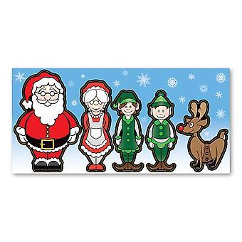 """المغناطيس، 5 قطعة مجموعة، التماثيل عيد الميلاد، 1.5 """"X 4"""" - 3.25 """"X 5"""" كل"""