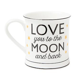 Sass &amp Belle אוהב אותך לירח ובחזרה כוכבי זהב ספל