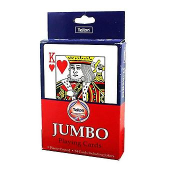 Jumbo Plastic-Coated Playing Cards for Children