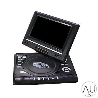 Leitor de DVD portátil, tela de rotação, dispositivo de reprodução de viagens, Us/uk/eu/au