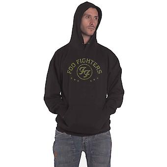 Foo Fighters Hoodie Arched Stars Band Logo new Official Mens Black Pullover