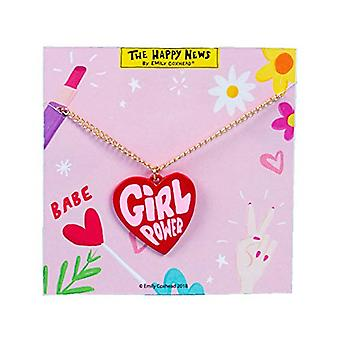 The Happy News Acrylic Necklace - Girl Power (Pack of 4)