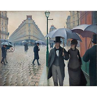 Paris, A Rainy Day, Gustave Caillebotte Art Reproduction. Impressionism Modern Hd Art Print Poster,canvas Prints Wall Art For Home Decor Pictures