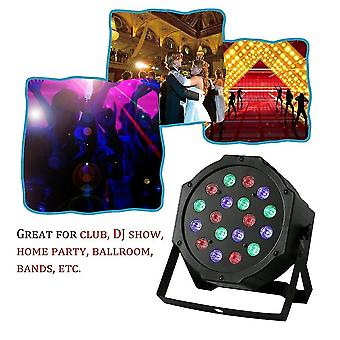 18w 18led Rgb Mixing Colors Stage Light 6 Channel Wedding Party Dj Club Light