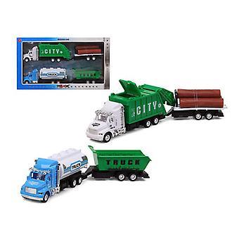 مجموعة من السيارات شاحنة القمامة 119275 الأخضر (3 Uds)