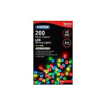 Status Graz 200 LED String Lights - Multicolore, 16.3m
