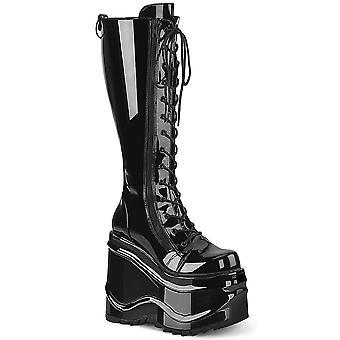 Demonia Chaussures pour femmes WAVE-200 Blk Brevet