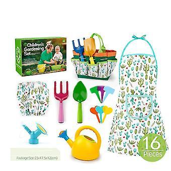 16pcs Children's Gardening Tool Set Outdoor Toy Set