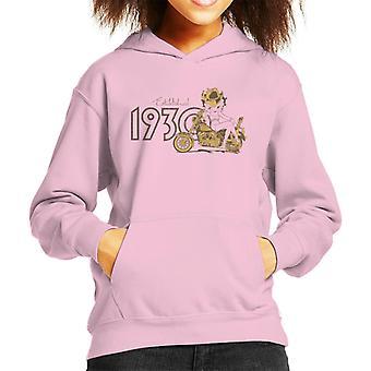 Betty Boop Biker Betty Established 1930 Kid's Hooded Sweatshirt