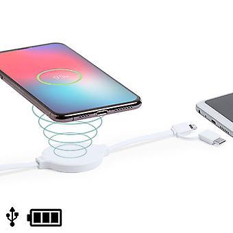 Câble USB avec Lightning, USB-C et chargeur sans fil Blanc 146259