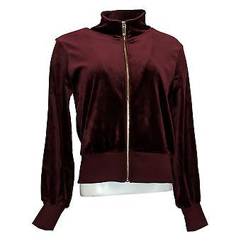 Skinnygirl Women's Light Weight Zip-Up Jacket Red 681086