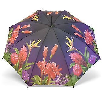Paraply stick paraply motiv exotiska blommor