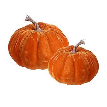 Heaven Sends Velour Pumpkin Set Halloween Decoration