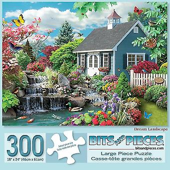Jigsaw puzzles bits and pieces - 300 large piece jigsaw puzzle for adults - dream landscape - 300 pc spring scene